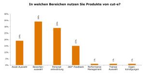 In welchen Bereichen nutzen HR-Verantwortliche Produkte von cut-e?