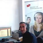 Dozent im Online-Unterricht an der Übersetzer- und Dolmetscherschule Köln