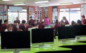 Im Unterricht an Schule in Australien