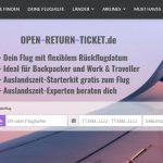 Neue Flugsuchmaschine auf Open-Return-Ticket.de - Langstreckenflüge mit flexiblem Rückflug zu Jugend- und Studententarifen