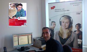 Dozent im Unterricht Online-Ausbildung Übersetzer