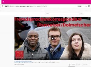 Einen Einblick in die Ausbildung an der Übersetzer- und Dolmetscherschule Köln gibt es im Video