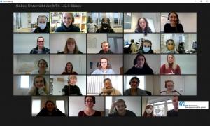 Screenshot: Online-Unterricht für angehende MTA-L am RBZ Köln. Hybrid-Unterricht gefällt
