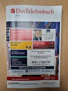 Das Telefonbuch von Köln 2021